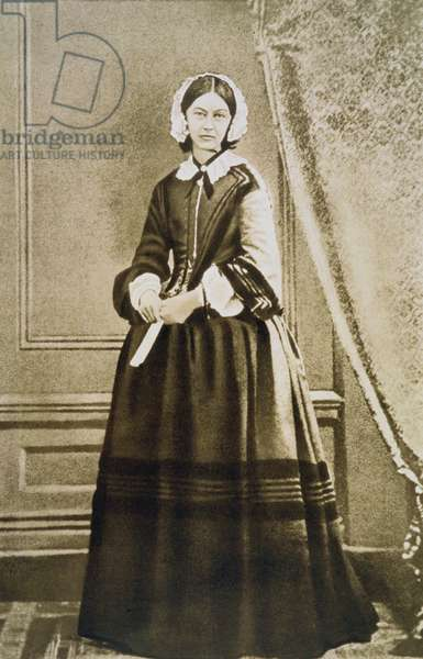 Florence Nightingale (1820-1910) English nurse, statistician and hospital reformer. From a photograph