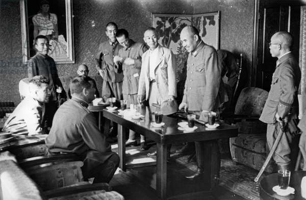 Operation August Storm (Battle of Manchuria), the Terms of Japan'S Surrender to the Soviet Union are Being Negotiated, Manchuria, August 1945.