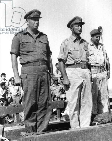 Asaf Simhoni with Chief of Staff Moshe dayan