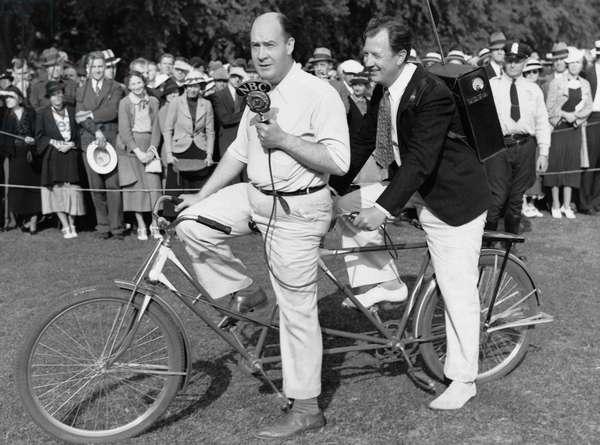 Bicycle Broadcasting (b/w photo)