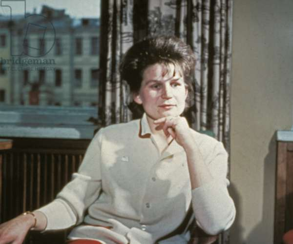 Soviet Cosmonaut Valentina Tereshkova, the First Woman in Space, at Home in 1965.