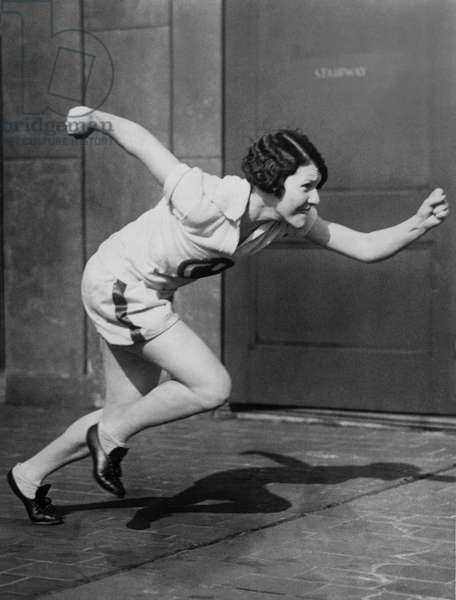Woman Sprinter Practicing
