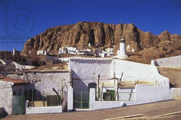 Spain, Guadix, cave houses