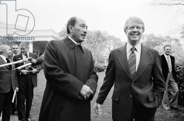 The Egyptian President Anwar Sadat with President of the United States Jimmy Carter, 1977