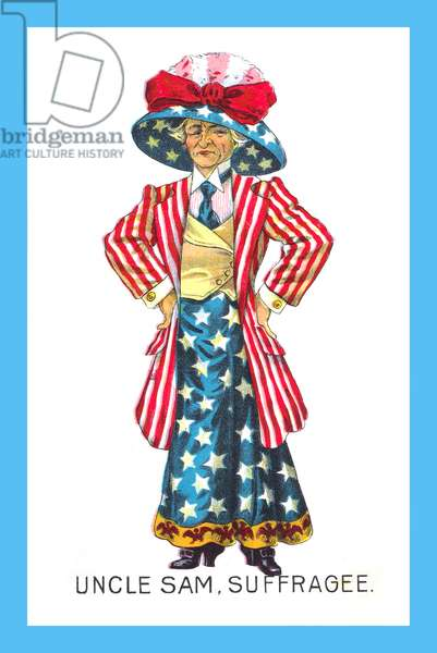 Uncle Sam Suffragette, 1909
