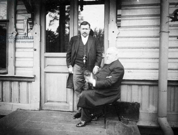 Aleksandr Glazunov and Mily Balakirev, 1908