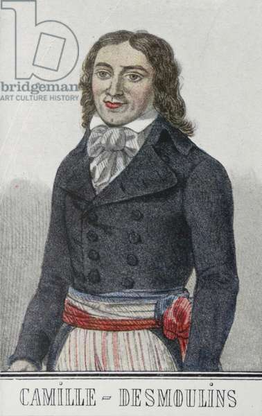 Camille DESMOULINS (1760-94) French Revolutionary and journalist;member of the National Convention;guillotined.