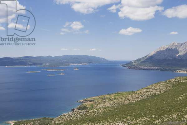 Croatia, peninsula and mountains on Dalmatian coastline