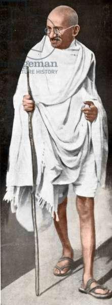 Mohandas Karamchand Gandhi dit Mahatma Gandhi (1869-1948), leader politique et spirituel indien, vers 1945 - Mahatma Gandhi, c. 1945.©Dinodia/Uig/Leemage