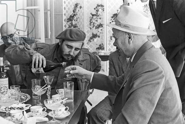 Fidel Castro And Nikolai Podgorny In Havana