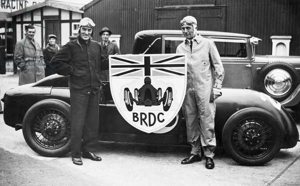 Malcolm Campbell and Earl Howe, Surrey, England, September 9, 1931 (b/w photo)