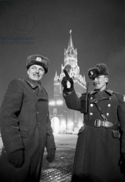 Policemen On Duty In Red Square In Moscow : Policemen on duty in Red Square in Moscow, Russia, 27/03/95 ©ITAR-TASS/UIG/Leemage