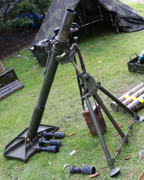 World War Two British army field mortar