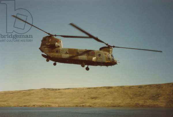 A Chinook in the Falklands Conflict, 1982 (photo)