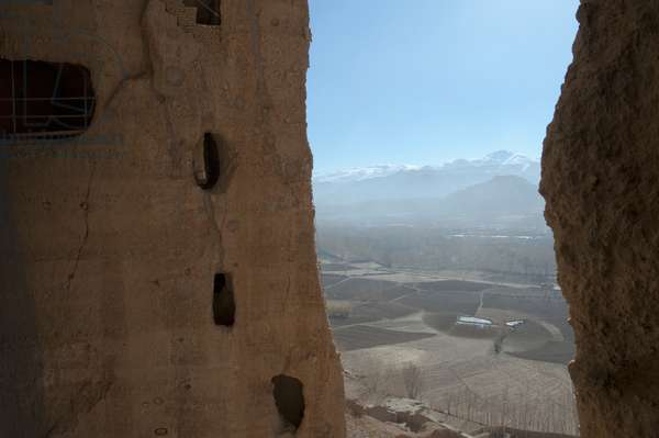 View of Bamiyan from the Top of the Niche of the Small Buddha, Bamian Province, Afghanistan (photo)