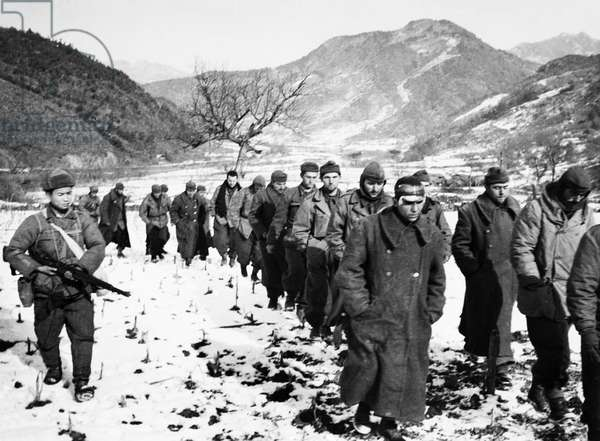Korean War, Turkish Troops Captured by the Chinese People'S Volunteers.