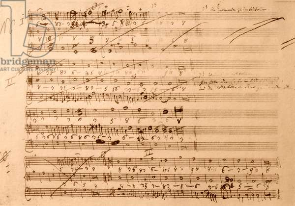 Musical excercises in counterpoint used by Wolfgang Mozart
