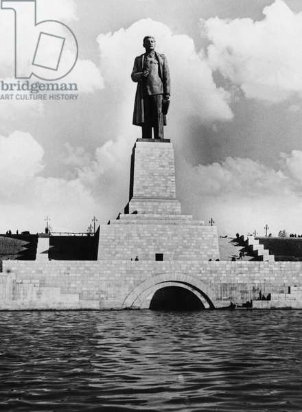 Monument to Joseph Stalin Erected at the Entrance to the Lenin Volga-Don Shipping Canal, 1952.
