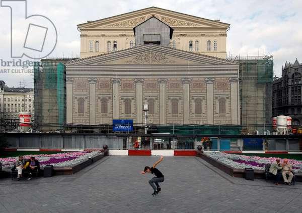 Bolshoi Theatre Under Renovation In Moscow : The Bolshoi Theater under renovation in Moscow, Russia, 18/09/13 ©ITAR-TASS/UIG/Leemage