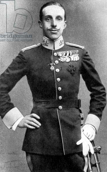 Alphonso  XIII (1886-1941) King of Spain, posthumous son of Alfonso XII. Refused to abdicate when elections returned overwhelming vote for a republic. Died in exile.