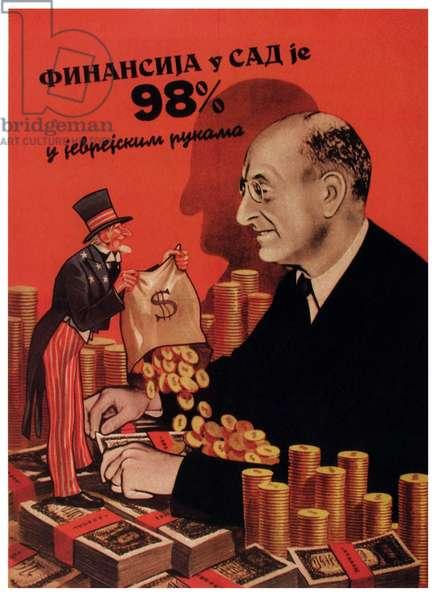Serbian anti Semitic poster of World war Two
