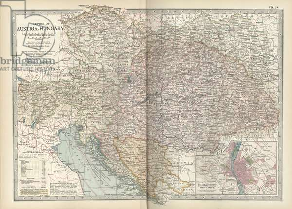 Map of the Empire of Austria-Hungary