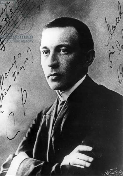 A Portrait of Russian Composer, Sergei V, Rachmaninov, from 1936.