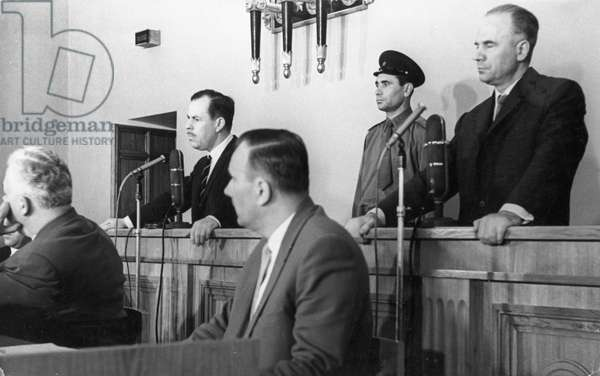 Penkovsky-Wynne Spy Trial, May 1963, Grevilly Wynne (Left) and Oleg Penkovsky During the Trial Which Began on May 7, 1963.
