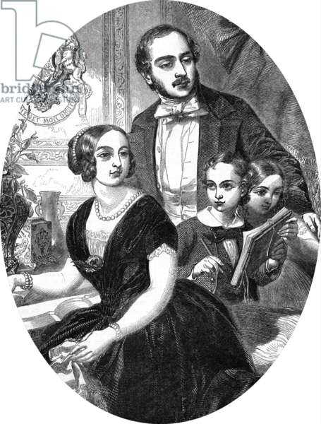 Queen Victoria and Prince Albert with their two eldest children