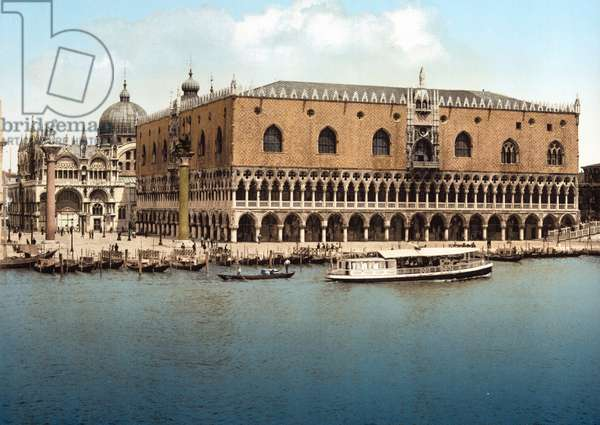 View of the Doge's Palace in Venice, Italy.