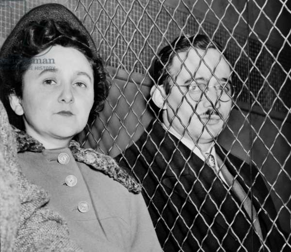 Julius Rosenberg (May 12, 1918 - June 19, 1953) and Ethel Rosenberg (September 28, 1915 - June 19, 1953) American communists, executed after having been found guilty of conspiracy to commit espionage. The charges were in relation to the passing of information about the American atomic bomb to the Soviet Union..