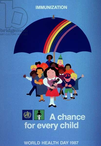 Public health poster for Immunization