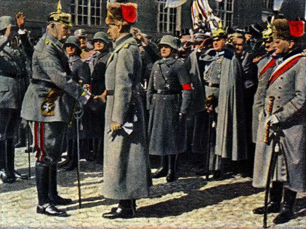 Paul Von Hindenburg with Cron Prince of Germany