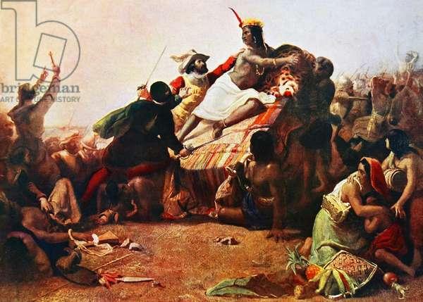 Pizarro Seizing the Inca of Peru John Everett Millais, 1754