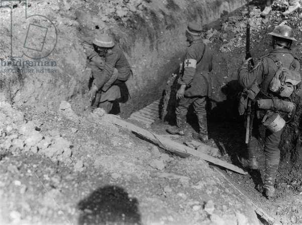 Battle of Thiepval Ridge, 1916 (b/w photo)