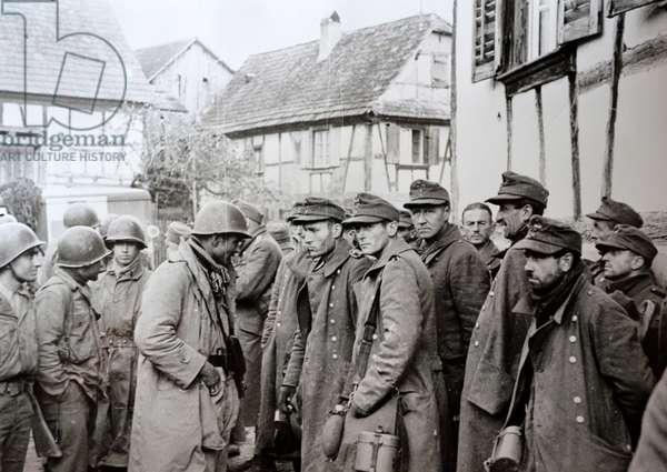 World war Two: German prisoners of war in the Alsace Lorraine region 1944