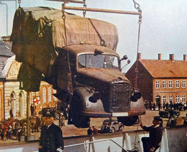 Colour photograph of a Opel Blitz truck during the Second World War