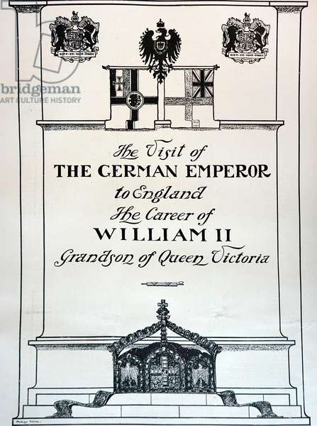 Title page of a programme commemorating a visit by Kaiser Wilhelm II to England for the Diamond Jubilee.