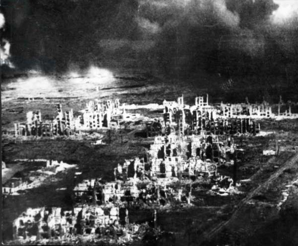 World War 2, Battle of Stalingrad, Center of Stalingrad Showing Widespread Devastation, Feb, 2, 1943.