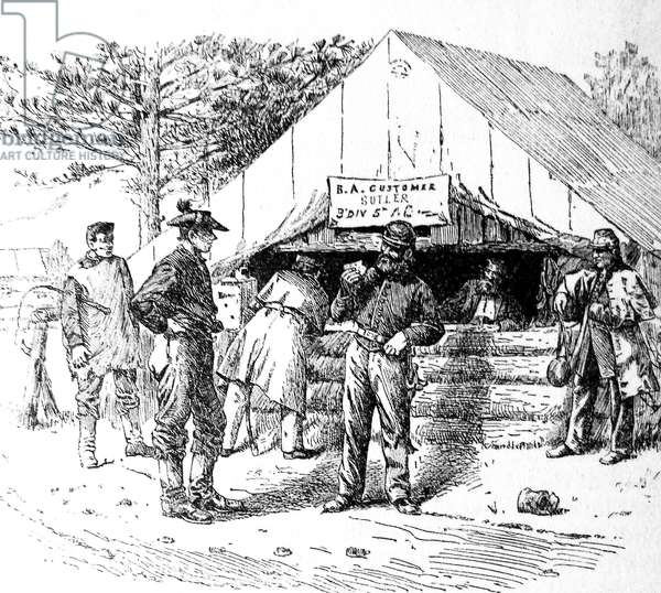 American Civil war-1861 1865 A Federal Army sutler tent