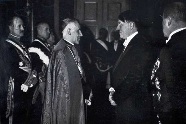 Adolf Hitler 1889-1945. German politician and the leader of the Nazi Party with the Vatican ambassador
