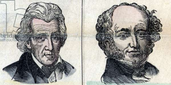 Presidents Andrew Jackson and Martin Van Buren, 1850