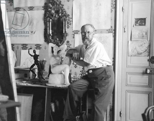 Henri Matisse, the painter (b/w photo)