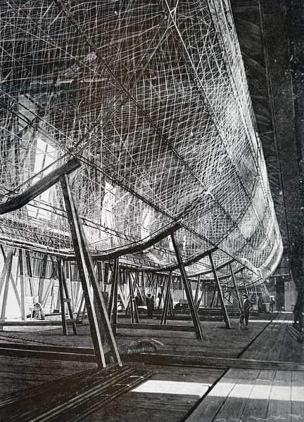 The Zeppelin airship in its hanger