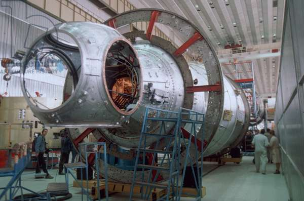 Aug, 1997: Functional Cargo Block (Fcb), Russian Built and Funded by Nasa, is the Primary Component of the Future International Space Station.