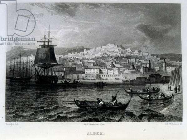 Mediterranean coast off Algiers, Algeria 1862. French illustration