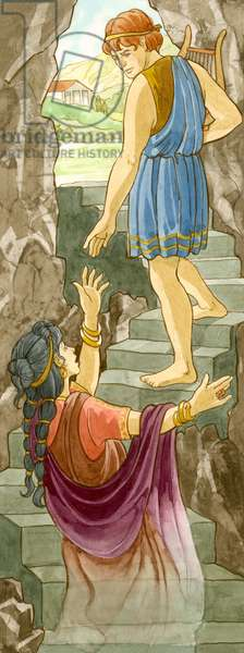 Orphee parti chercher sa femme Eurydice dans le royaume d'Hades, echoue a la ramener dans le monde des vivants - Orpheus went to the underworld to fetch his wife, Eurydice, but failed to follow Hades' instructions and lost her forever ©Encyclopaedia Britannica/UIG/Leemage