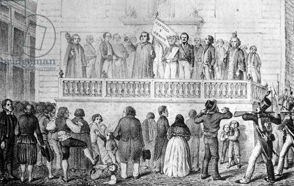The proclamation of King Joseph-Napoléon Bonaparte, Madrid