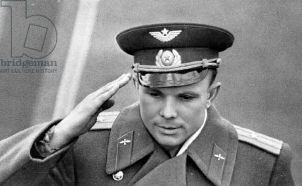 Yuri Gagarin Reporting On Successful Fulfilment Of The Vostok Spaceship Flight