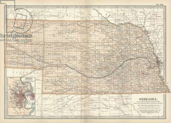 Map of Nebraska with inset of Omaha